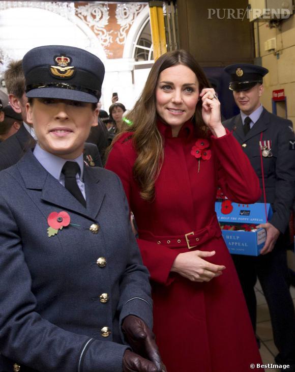 Kate Middleton à la rencontre de la légion Britannique.