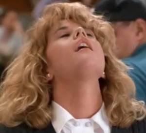 """Mythique scène de l'orgasme de Meg Ryan dans le film """"Quand Harry rencontre Sally""""."""