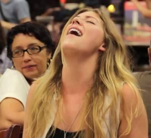 Scène d'orgasme géant dans le café Katz's Delicatessen à New York.