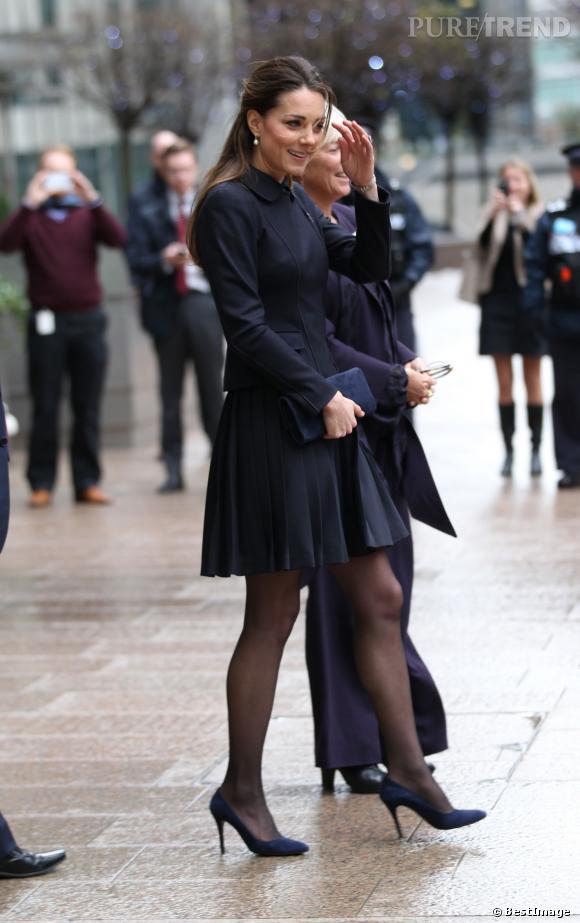 Kate Middleton s'est rendue à un forum Place2Be dans les bureaux de Clifford Chance afin d'apporter son soutien à l'association, qu'elle préside depuis avril.