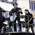 Le groupe Fall Out Boy met l'ambiance à la parade de Thanksgiving Macy's, à New York.