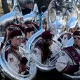 Les instruments de la parade de Thanksgiving Macy's, à New York.