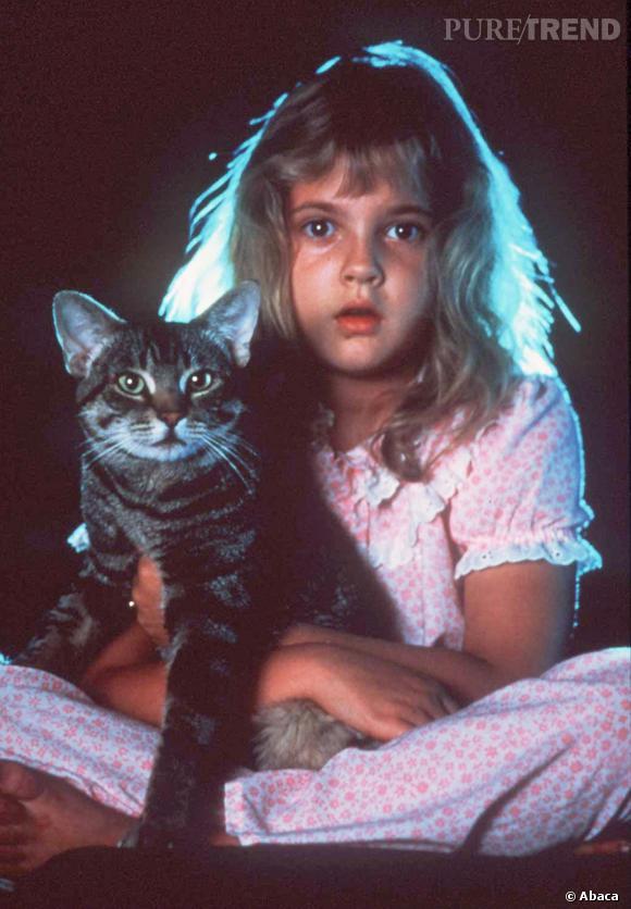 """Drew Barrymore n'a que 7 ans quand elle connaît le succès dans """"E.T""""."""