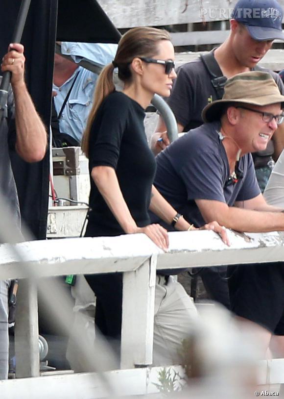 La dernière apparition d'Angelina Jolie sur le tournage du film Unbroken. Elle est toujours plus mince.