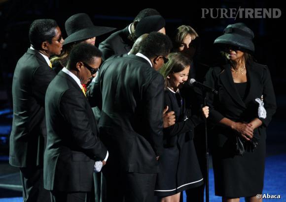 La famille Jackson lors de l'enterrement de Michael en 2009.