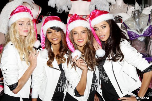 Les Anges Victoria's Secret, mères Noël souriantes, (un peu trop non ?).