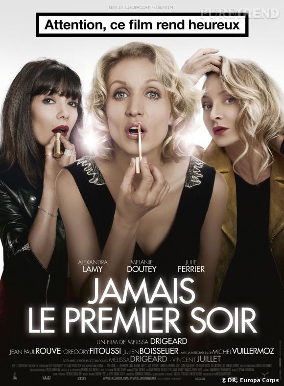 """Alexandra Lamy : l'affiche du film """"Jamais le premier soir"""" le 1er janvier 2014."""
