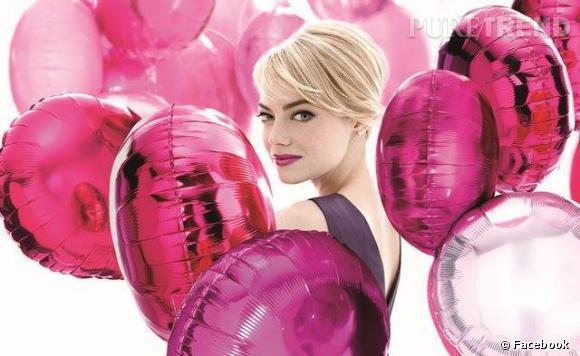 Emma Stone romantique pour Revlon.
