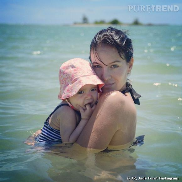 Jade Foret et Liva en vacances.