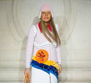 Anna Dello Russo au défilé Haute Couture Printemps-Été 2014 Christian Dior.