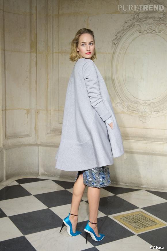 Leelee Sobieski au défilé Haute Couture Printemps-Été 2014 Christian Dior.