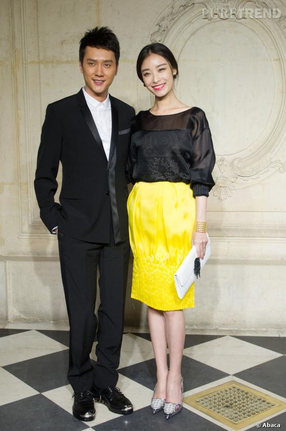Feng Shao Feng et Ni Ni au défilé Haute Couture Printemps-Été 2014 Christian Dior.