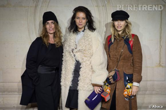 Mademoiselle Agnès et Alexandra Golovanoff au défilé Haute Couture Printemps-Été 2014 Christian Dior.