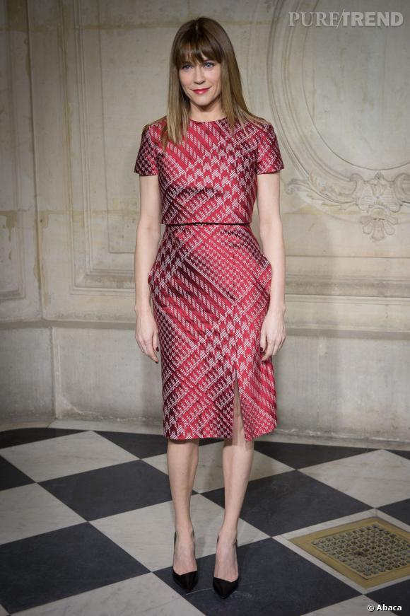 Marie-Josee Croze au défilé Haute Couture Printemps-Été 2014 Christian Dior.