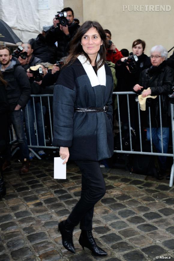 Emmanuelle Alt au défilé Haute Couture Printemps-Été 2014 Christian Dior.
