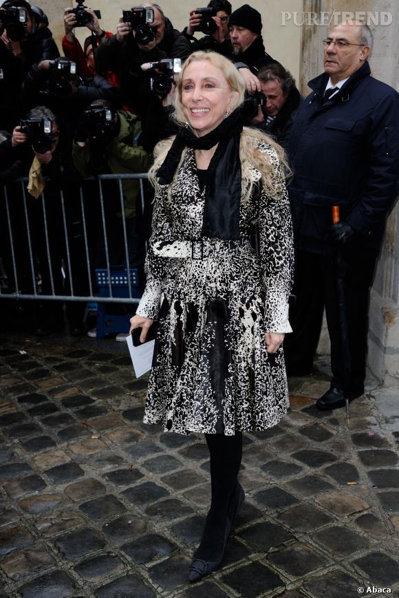 Franca Sozzani au défilé Haute Couture Printemps-Été 2014 Christian Dior.