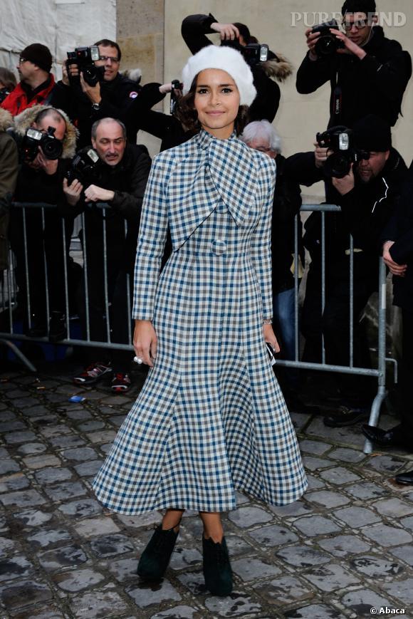 Miroslava Duma au défilé Haute Couture Printemps-Été 2014 Christian Dior.