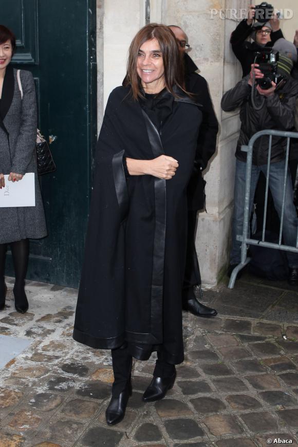Carine Roitfeld au défilé Haute Couture Printemps-Été 2014 Christian Dior.