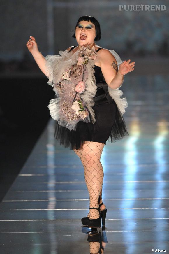 Beth Ditto a fait partie des muses de Jean Paul Gaultier en 2011.