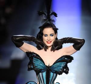 Dita Von Teese : papillon sensuel et invitée surprise de Jean Paul Gaultier