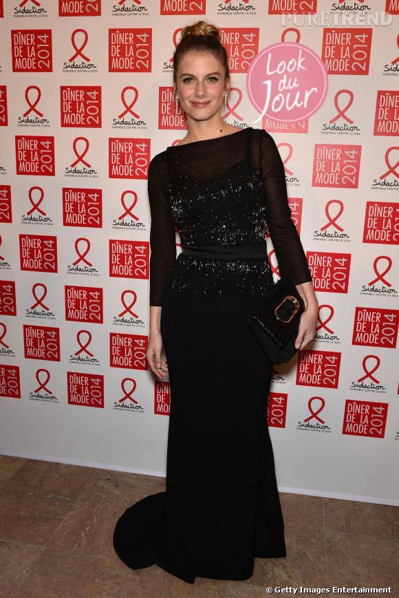 Mélanie Laurent lors du 12ème Dîner de la mode, jeudi 23 janvier 2014.