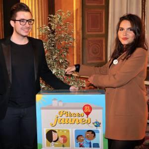 """Miss Picardie, Olympe et Joyce Jonathan au gala de charité """"Pièces Jaunes"""" au Château de Compiègne le 24 janvier 2014."""