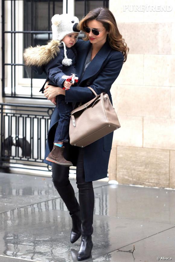 Miranda Kerr, toujours aussi mode dans les rues de New York.