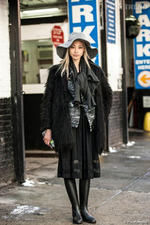 La capeline, l'atout des reines du style en hiver.