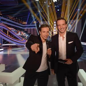 """Stéphane Rotenberg et Philippe Candeloro dans l'émission """"Ice Show""""."""