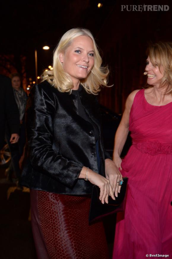 La princesse Mette-Marit de Norvège se rend aux Nåløyet Awards, mercredi 12 février 2014.