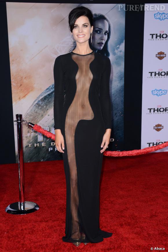 Jaimie Alexander est sortie de l'ombre grâce à sa tenue sexy et très transparente.