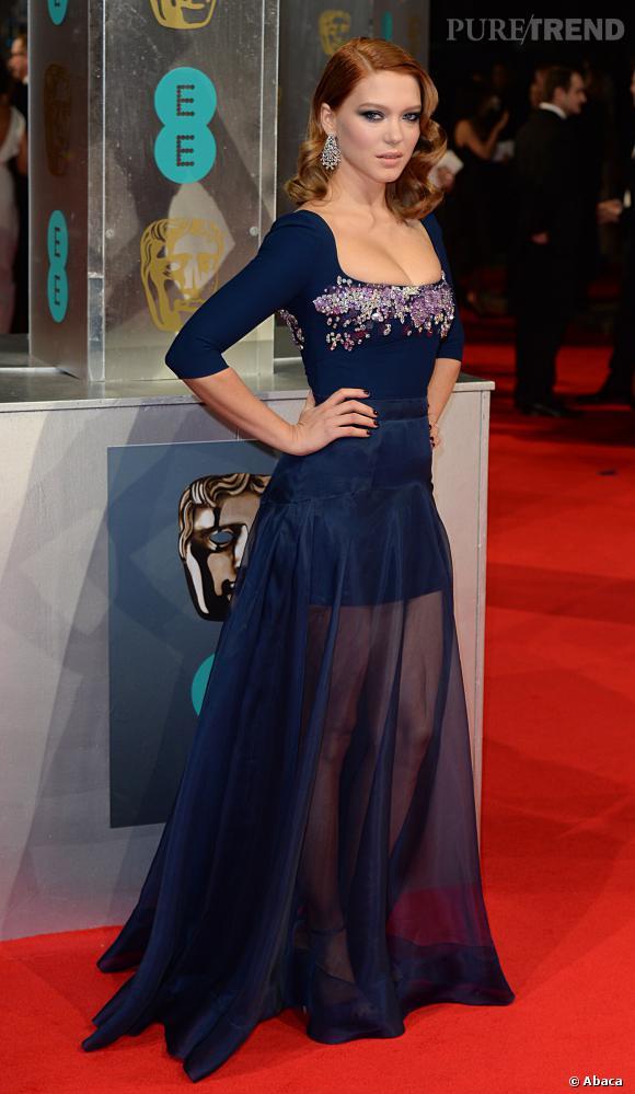 Léa Seydoux fait une apparition divine et sexy aux BAFTA 2014, à Londres, le 16 février 2014.