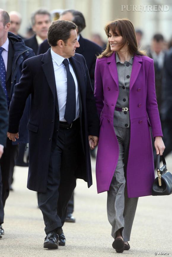 Carla Bruni et Nicolas Sarkozy très complice durant leur séjour à Londres en 2008.