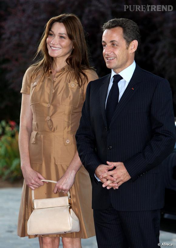 Carla Bruni et Nicolas Sarkozy, un couple éblouissant en Israël en 2008.