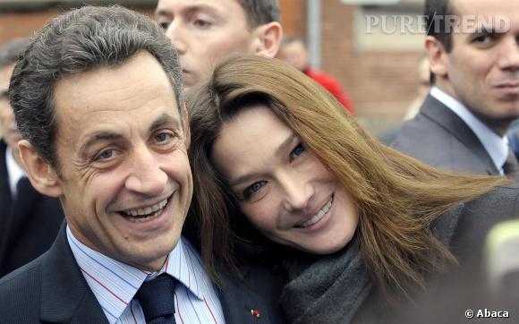Carla Bruni et Nicolas Sarkozy, couple complice et tendre en 2009.