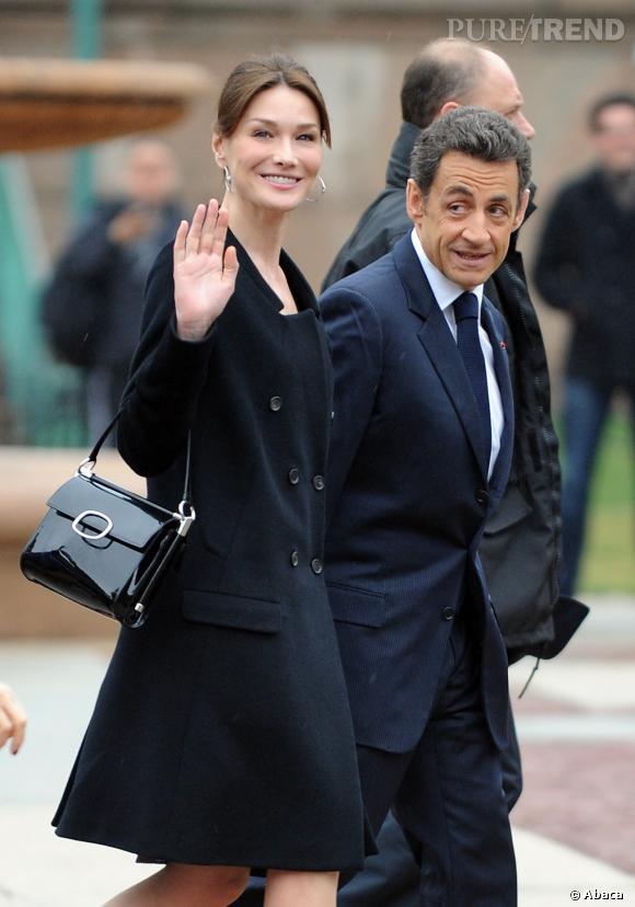 Carla Bruni et Nicolas Sarkozy, le couple très chic en visite aux Etats-Unis en 2010.