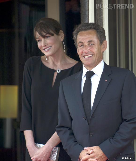 Carla Bruni et Nicolas Sarkozy, glamour au programme le repas du G8 en 2011.