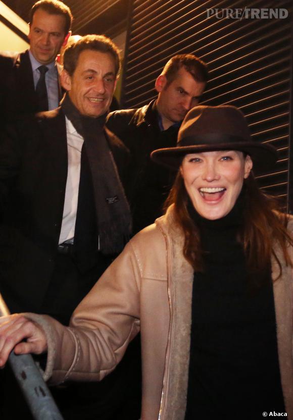 Carla Bruni a repris le chemin de sa tournée en France, souvent accompagnée de son mari Nicolas Sarkozy, en 2013.