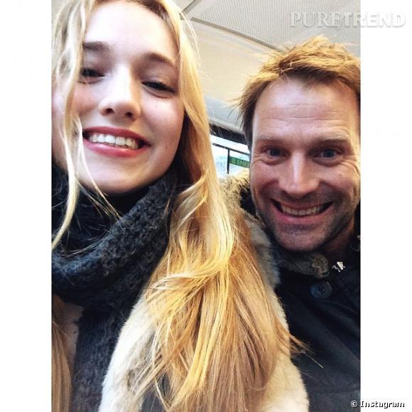 Chloé Jouannet et son père Thomas Jouannet à Londres.