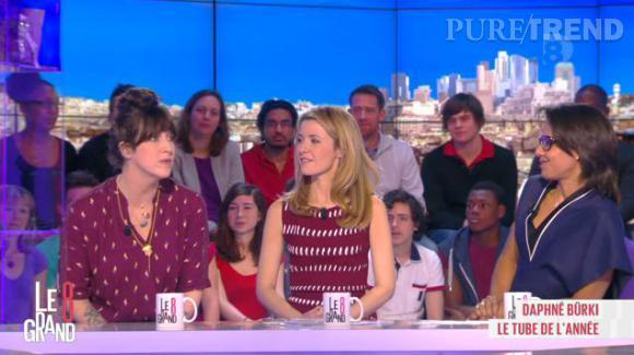 """Daphné Burki, invitée du """"Grand 8"""", le 19 février 2014 confie sur sa vision de la télévision."""