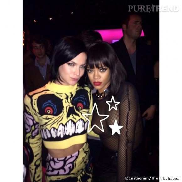 """Leigh Lezark aux côtés de Rihanna, version étoilée. En légende """"Get a life Instagram censor!..."""""""
