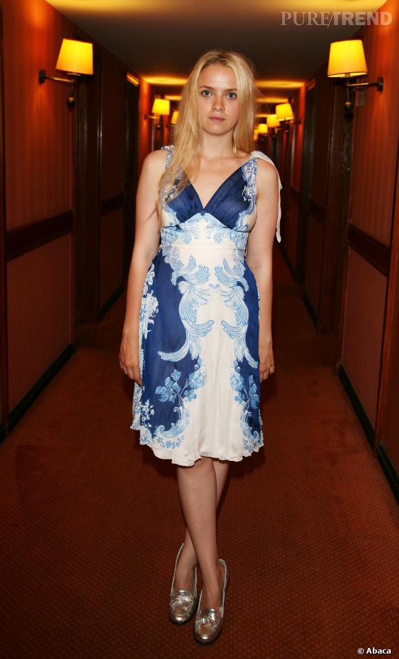 Sara Forestier, le baroque chic mélangé à des escarpins bling-bling en 2007.