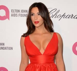 Kim Kardashian : un décolleté à tomber pour sa soirée post-Oscars 2014