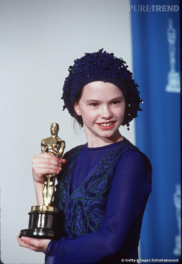 """Anna Paquin en 1994 gagne l'Oscar de la meilleure actrice dans un second rôle pour """"La leçon de piano""""."""