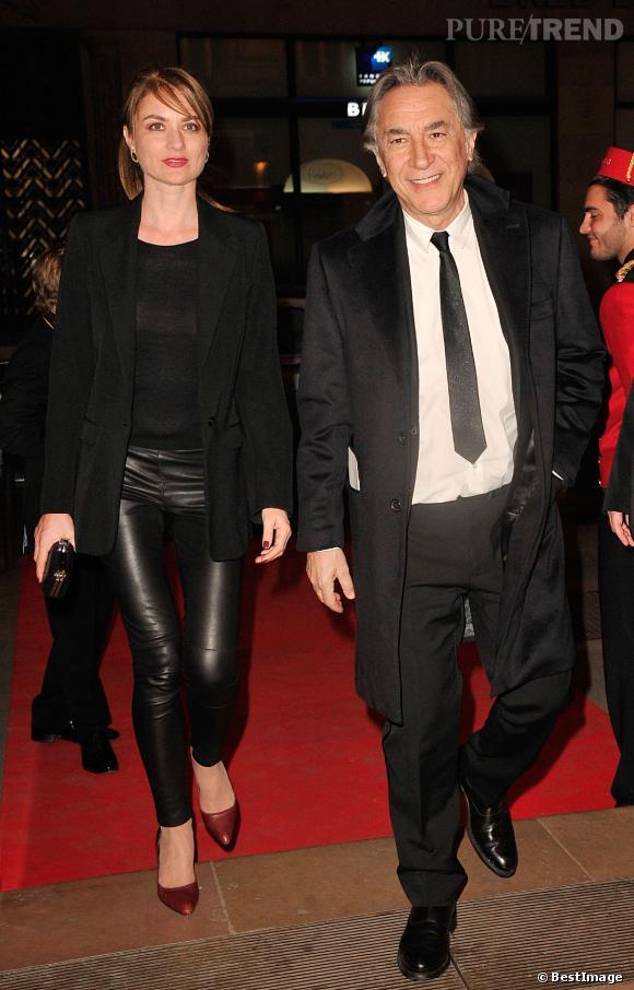 Richard Berry et Pascale Louange lundi 10 mars 2014, au Gala Enfance Majuscule au profit de l'enfance maltraitée.