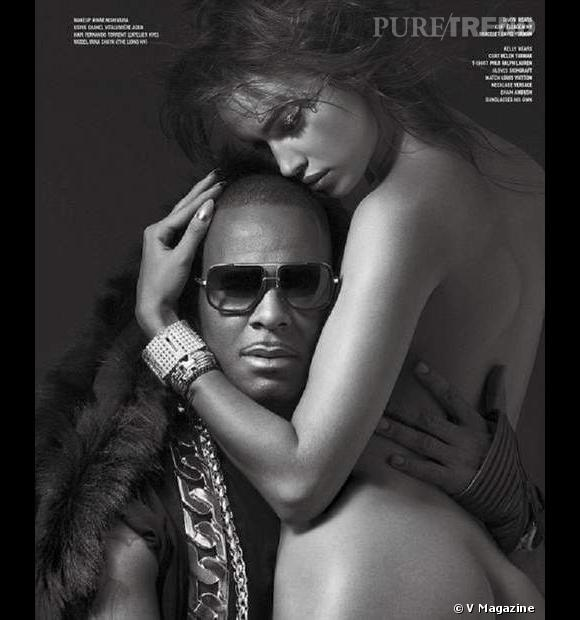 Irina Shayk, toujours très sexy, s'offre à R. Kelly pour V Magazine.