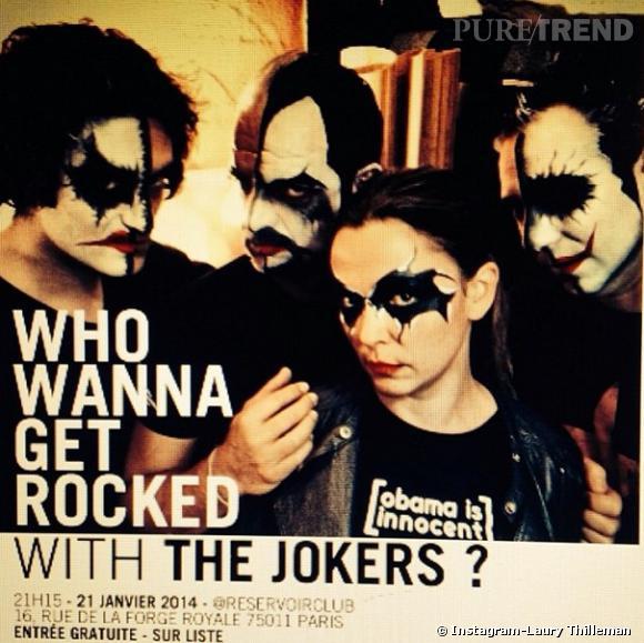 """Sandrine Quétier bluffe tout le monde avec son groupe """"The Jokers""""."""