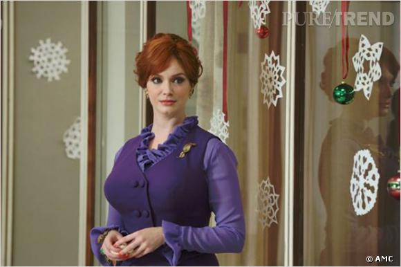 "Christina Hendricks joue Joan Harris dans ""Mad Men""."