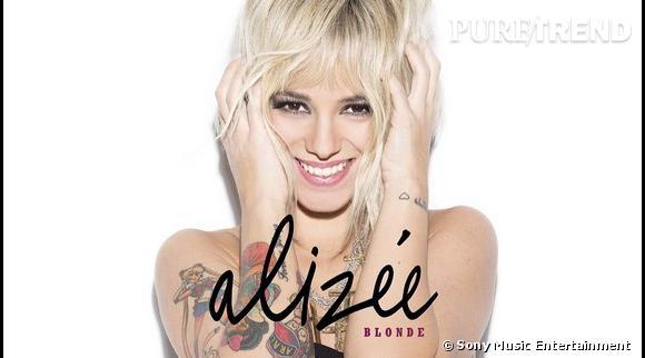 Alizée devenue blonde sur la pochette de son dernier titre.