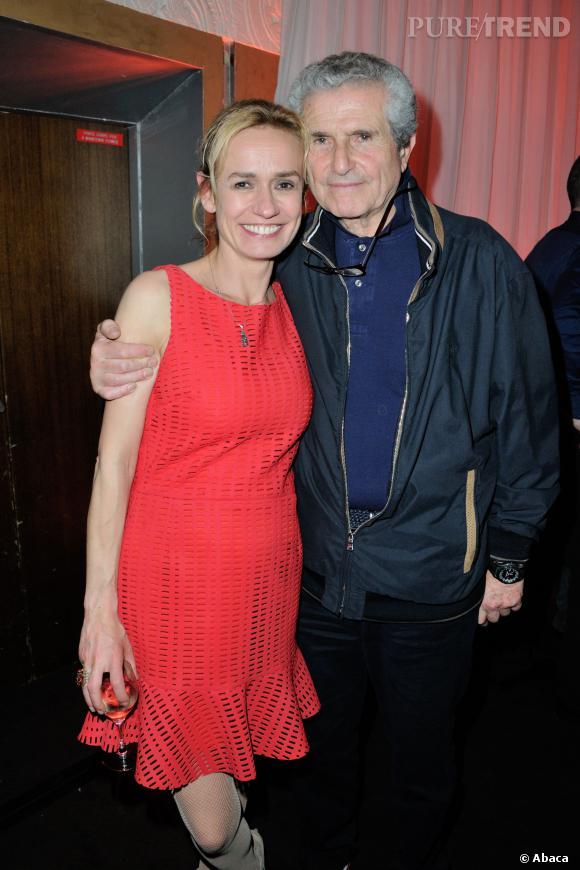 """Sandrine Bonnaire et Claude Lelouch assurent la promo de """"Salaud, on t'aime"""" le 31 mars 2014 à Paris."""